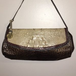 Brahmin textured shoulder bag purse